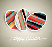 Vector retro Paper easter egg card — Stock Vector