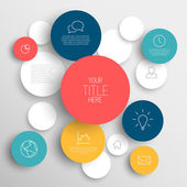 Vector abstract circles infographic template — Stock Vector