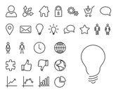 Modern thin line icon set — Stock Vector