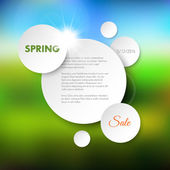 Spring sale vector background — Stock Vector