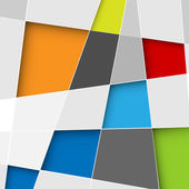 Vector abstract squares background illustration — ストックベクタ