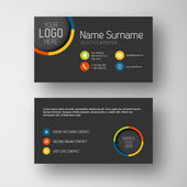 Business card template with flat user interface — Stock Vector