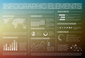 Transparent Vector set of Infographic elements — Stock Vector