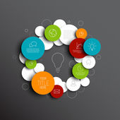 Abstract circles infographic template — Stock Vector