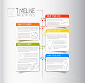 Infographic timeline report template — Stock Vector