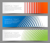 Simple colorful horizontal banners — Stock Vector