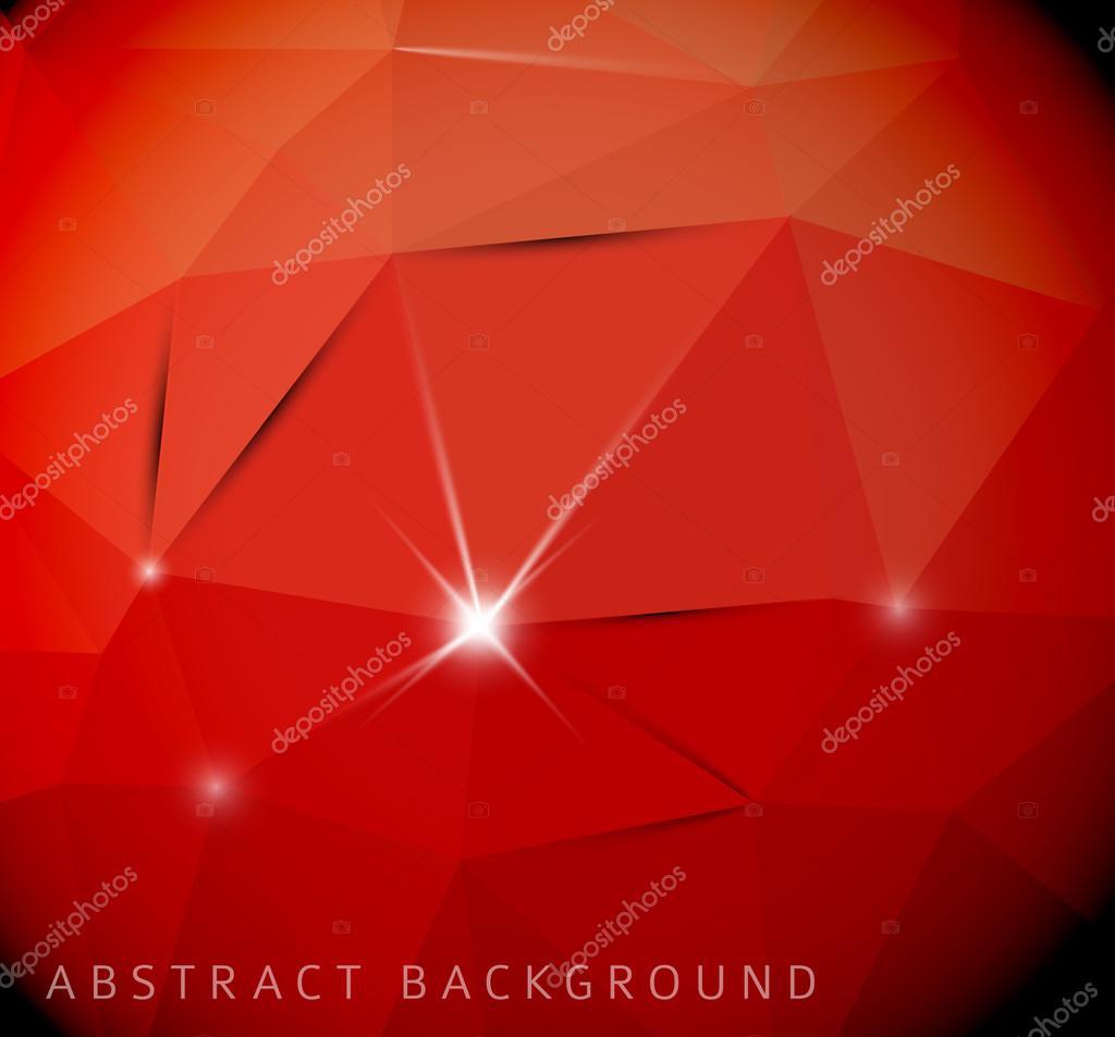 三角形的抽象红色背景