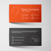 Business card template with graphic — Stok Vektör