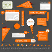 Orange infographic timeline elements — Stock Vector