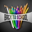 Vector Back to school poster — Stock Vector #49510709