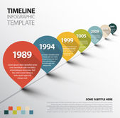 Infographic Timeline Template with pointers — Wektor stockowy