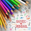 Vector Back to school poster — Stock Vector #50085579
