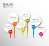Infographic horizontal dark timeline report template — Stock Vector