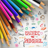 Vector Back to school poster  — Stock Vector