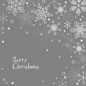 Julkort med vita snöflingor — Stockvektor