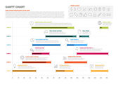 Project timeline graph — Stock Vector
