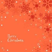 Retro julkort med snöflingor — Stockvektor