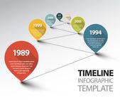Infographic Timeline Template — Stock Vector