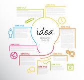 Modern idea Infographic template — Stock Vector