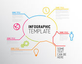 Modern Infographic report template made from lines — Stock Vector