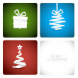 Simple vector christmas decoration made from paper — Stock Vector #7217306