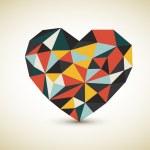 Vector retro heart — Stock Vector #9099182