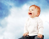 Portrait of happy smiling baby — Stock Photo