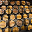 Stock Photo: Wooden wine barrels on cellar