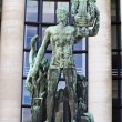 Old green Apollo statue in Paris, France — Stock Photo