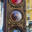 Stock Photo: Old vintage stoplight