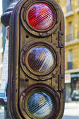 Old vintage stoplight — Stock Photo