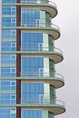 Glass detail of modern building — Stock Photo