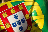Portuguese flag pattern — Stock Photo