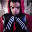 Fighter with boxing gloves - Stockfoto