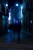 Tavira city street by night — Stock Photo