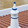 Traditional Portuguese white chimney — Stock Photo #13510409