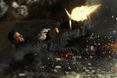 Contrato agente asesino personaje en acción — Foto de Stock