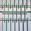 Window with green iron bars — Stock Photo