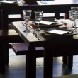 Restaurant tables — Foto Stock
