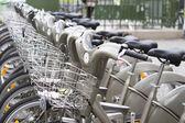Velib bicycles in Paris, France — Stock fotografie