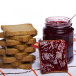 Toasted bread with jam - Foto de Stock