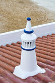 Traditional Portuguese white chimney — Stock Photo