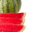 Stock Photo: Watermelon on white