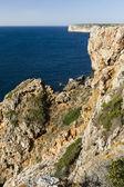 Beautiful coastline in Sagres — Stock Photo
