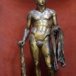 Ancient roman bronze statue — Stock Photo #29277631