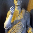 Male statue details of Vatican museums — Stock Photo