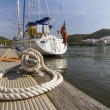Recreational sailboat — Stock Photo