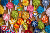 Handmade flower headbands — Stock Photo