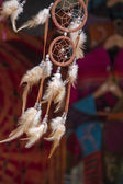 Feathered wind chimes — Stock Photo