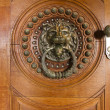 Doorknob in the shape of a lion head — Stock Photo